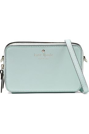 Carine textured-leather shoulder bag | KATE SPADE New York | Sale up to 70% off | THE OUTNET