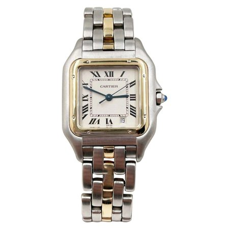 Cartier Panthere de Cartier Midsize 18 Karat Yellow Gold Stainless Steel For Sale at 1stDibs