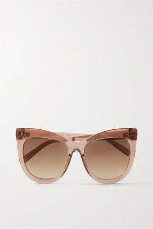 Tan Hidden Treasure oversized cat-eye acetate sunglasses   Le Specs   NET-A-PORTER