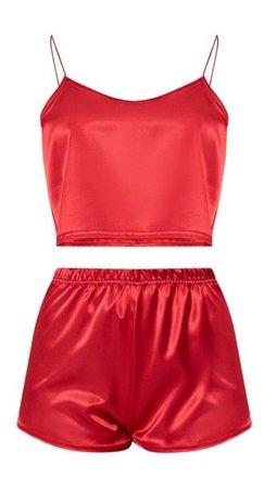 Red Silk Pajamas
