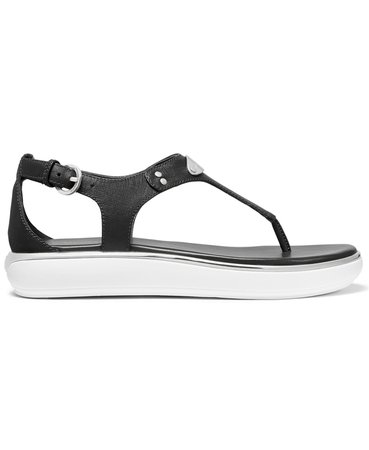 Black Michael Kors Lulu Thong Sandals & Reviews - Sandals - Shoes - Macy's