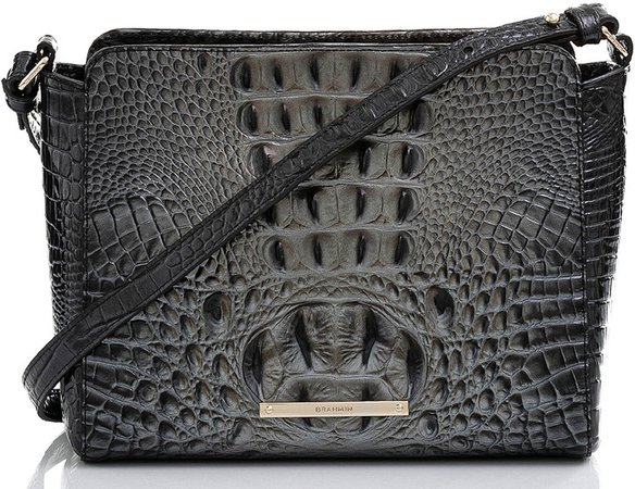 Melbourne Carrie Croc Embossed Leather Crossbody Bag