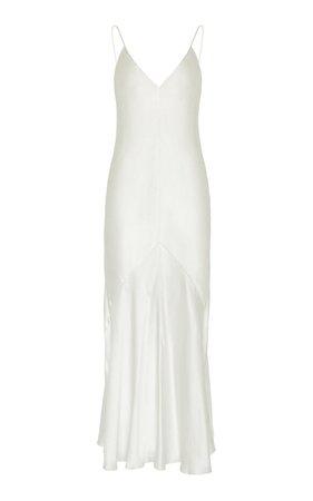 Liquid Satin Bias Slip Dress By Studio Amelia   Moda Operandi