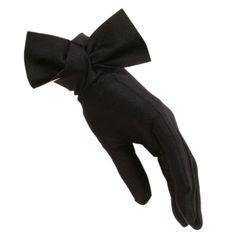 Black Bow Cocktail Gloves