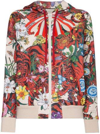 Floral print hoodie