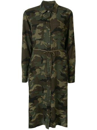 AMIRI Camouflage Print Shirt Dress - Farfetch