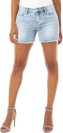 Vickie Frayed Denim Shorts