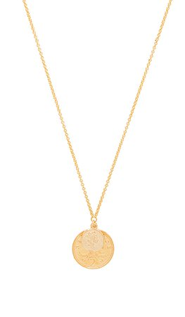 SHASHI Double Coin Necklace in Gold | REVOLVE