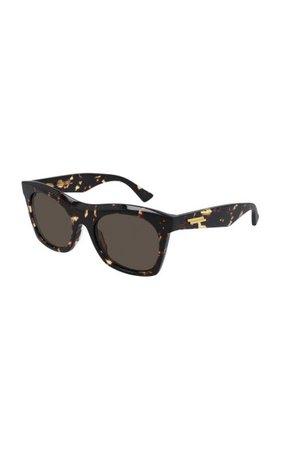 Oversized Tortoiseshell Acetate Square-Frame Sunglasses By Bottega Veneta | Moda Operandi