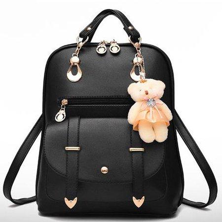 Girls bookbag HJKL Stylish Students Pu Leather Small School Backpack D – 2018_AT_142_30_(Animetee.com_SBRA)