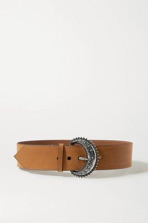 Tan Leather belt | Etro | NET-A-PORTER