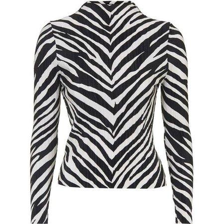 zebra topshop top