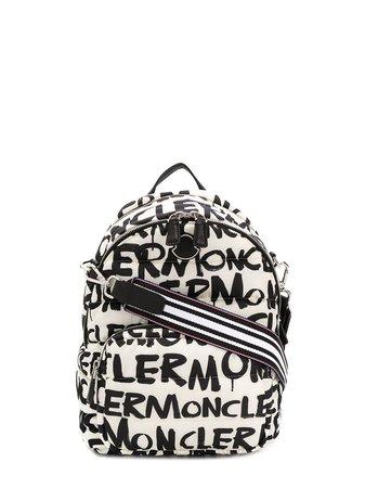 Moncler All Over Logo Backpack | Farfetch.com