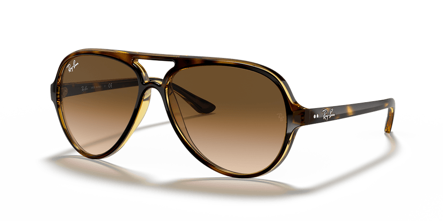 Ray-Ban RB4125 CATS 5000 CLASSIC 59 Brown Gradient & Tortoise Sunglasses | Sunglass Hut USA