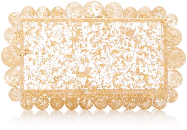 Cult Gaia Eos Gold Speckled Acrylic Clutch
