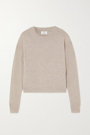 Beige Wool and cashmere-blend sweater | Allude | NET-A-PORTER