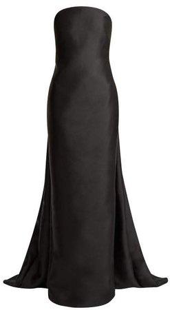 Joaquina Strapless Silk Blend Gown - Womens - Black