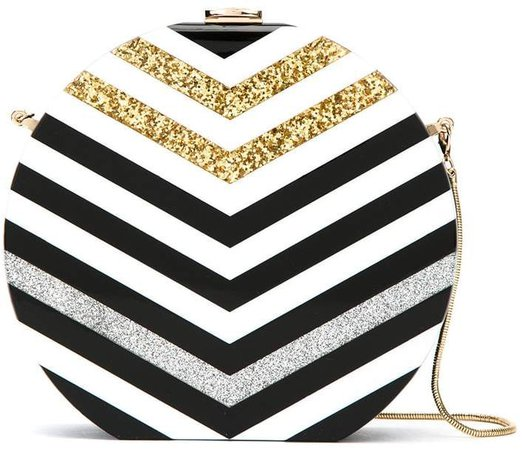 Isla stried clutch