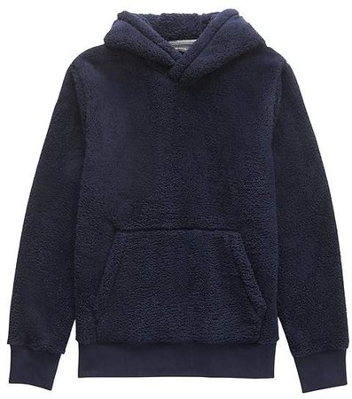 Solid Sherpa Fleece Hoodie