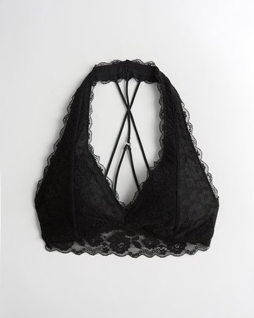 Gilly Hicks Gilly Hicks Lace Strappy Halter Bralette | Gilly Hicks Clearance | HollisterCo.com