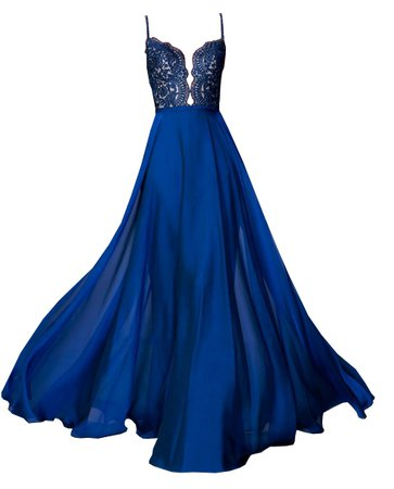 Dress Long Black Blue Mermaid