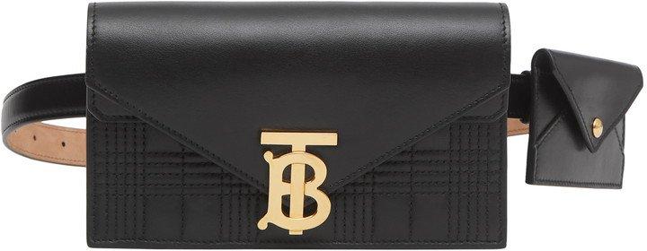 Quilted Wallet & Card Case Leather Belt Bag