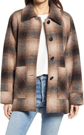 Alexandria Wool Blend Cape Coat