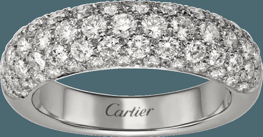CRB4192400 - Bague Etincelle de Cartier - Or gris, diamants - Cartier