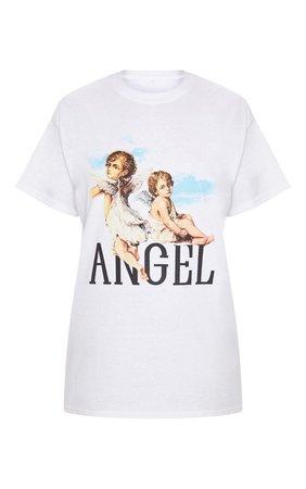 White Cherub T Shirt | Tops | PrettyLittleThing USA