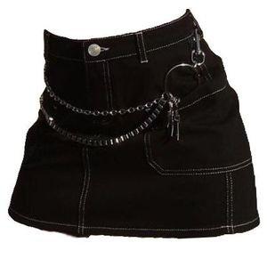 black denim skirt png