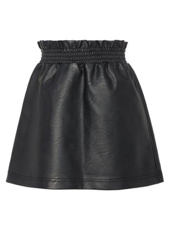 FAUX LEATHER SKIRT | BLACK