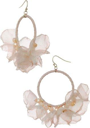 Melody Chiffon Hoop Earrings