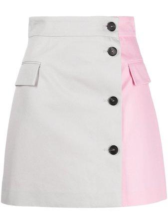 MSGM two-tone A-line skirt