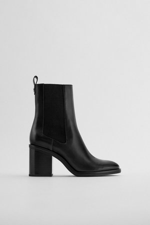 WIDE HEELED STRETCH ANKLE BOOTS   ZARA United States