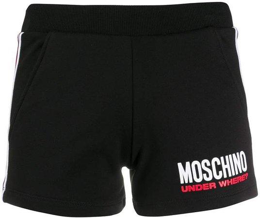 Logo-Print Side-Stripe Shorts
