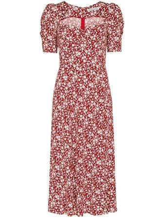 Reformation Matin floral-print midi dress - FARFETCH