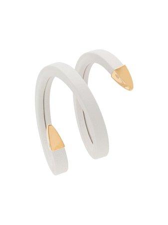 Bottega Veneta coined cuff bracelet white & gold 608701VAHUA - Farfetch