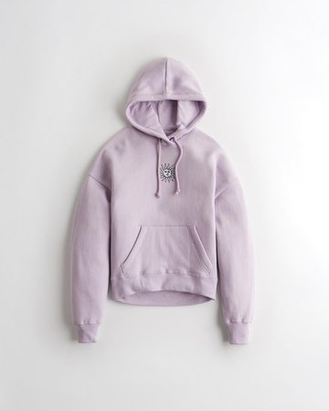 Girls Embroidered Hoodie | Girls New Arrivals | HollisterCo.com