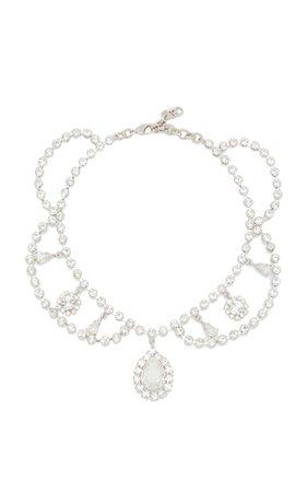 Crystal Bib Statement Necklace By Alessandra Rich | Moda Operandi