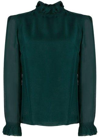 Green Goat Kasper ruffle-trimmed blouse KASPER - Farfetch