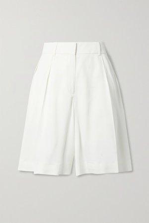 Isabelle Crepe Shorts - Ivory