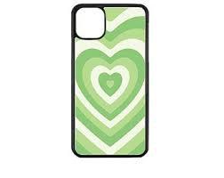 green heart phone case
