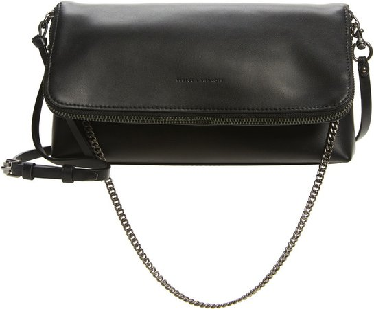 Date Leather Convertible Crossbody Bag