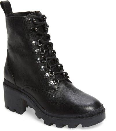Taylor Block Heel Combat Boot