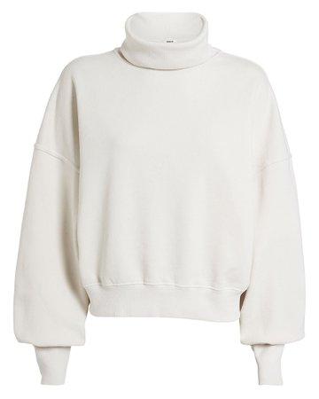 AGOLDE   Balloon Sleeve Turtleneck Beltway Sweatshirt   INTERMIX®