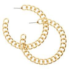 gold chain hoops - Google Search