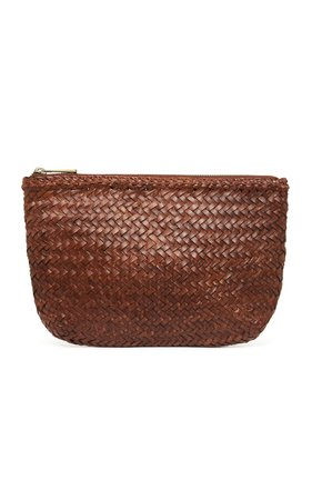 Ama Woven Leather Clutch by St. Agni | Moda Operandi