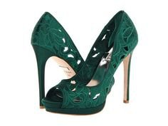 (56) Pinterest - Badgley Mischka Dacey in Emerald Green #heels #shoelove #zappos | Shoes, shoes & more...