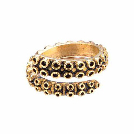 Octopus Gold Tentacle Ring – Oceanic Shop