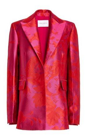 Floral Silk-Jacquard Single-Breasted Blazer By Carolina Herrera | Moda Operandi